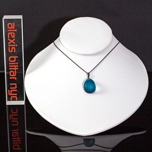 Blue Lucite Drop Pendant by Alexis Bittar